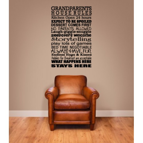 Grandparents Rules Decal