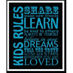 Kids Rules Print